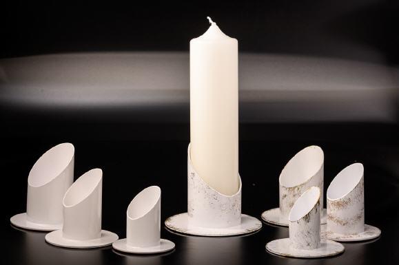 Kerzenleuchter kerzenständer armig aus metall vernickelt cm