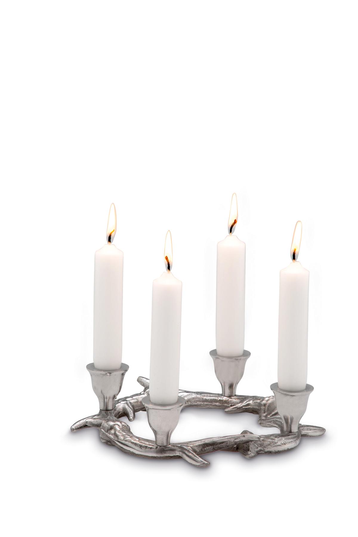 Hirschgeweih als Kerzenständer für 4 Kerzen Neu