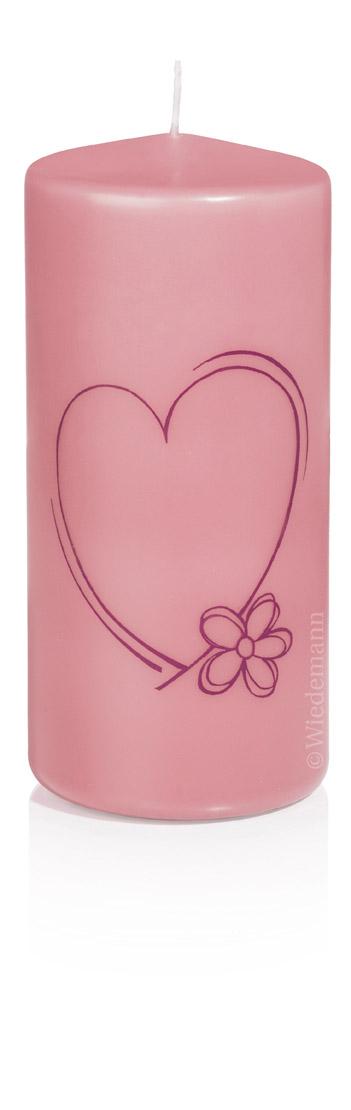 love kerze rosa 70 150 im kerzen shop zu guenstigen. Black Bedroom Furniture Sets. Home Design Ideas