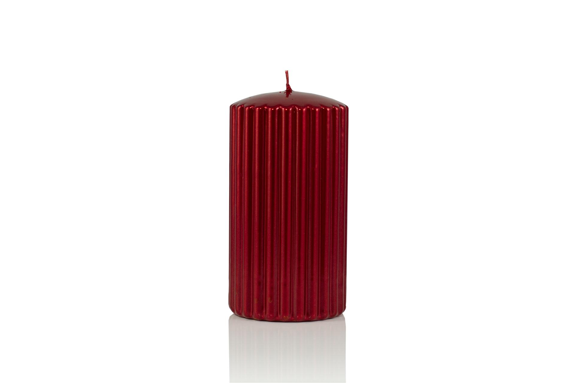 4er adventskerzen rillenkerzen rubin 150 x 80 mm im kerzen shop zu guenstigen preisen kaufen. Black Bedroom Furniture Sets. Home Design Ideas