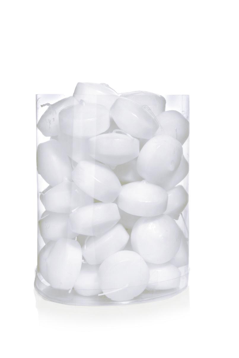 Schwimmkerzen in wei 48 mm inhalt 50 st ck im kerzen for Schwimmkerzen kaufen