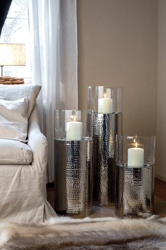 Windlichter versilbert und anlaufgesch tzt im kerzen shop for Windlicht glas gross